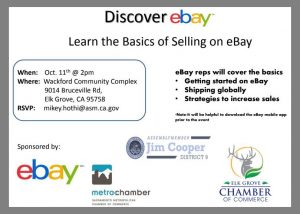 Discover Ebay Small Business Workshop 麋鹿林华人联谊会